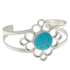 Jay King Gallery Collection Sonoran Turquoise Flower Cuff Bracelet