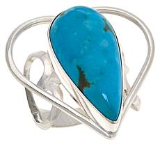 Jay King Gallery Collection Sterling Silver Turquoise Heart Ring