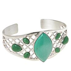 Jay King Gallery Collection Sterling Silver Variscite Cuff Bracelet