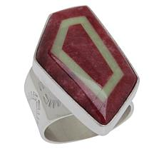 Jay King Gallery Collection Thulite & Meadow Stone Geometric Ring