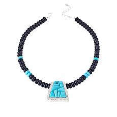 Jay King Gallery Collection Turquoise and Chalcedony Necklace