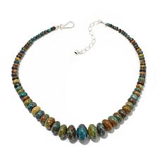 "Jay King Hubei Turquoise Rondelle Bead 18"" Necklace"