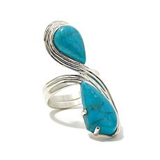 Jay King Iron Mountain Turquoise Teardrop Ring