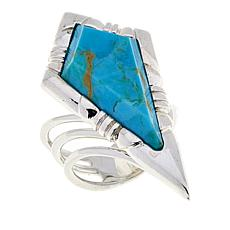Jay King Kingman Turquoise Sterling Silver Open Shank Ring