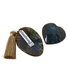 Jay King Labradorite 2-Stone Specimen Set