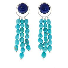 Jay King Lapis and Turquoise Drop Earrings