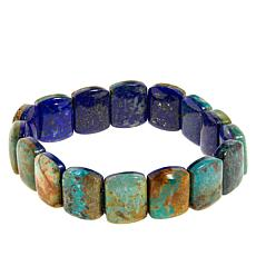 Jay King Lapis and Turquoise Reversible Stretch Bracelet