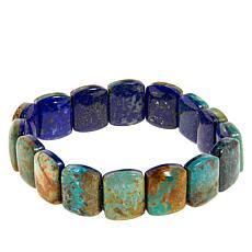 Jay King Lapis and Turquoise Reversible Stretch Bracelet