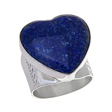 Jay King Lapis Sterling Silver Heart Ring