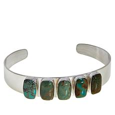 Jay King Lonesome Pine Mountain Turquoise 5-Stone Cuff Bracelet