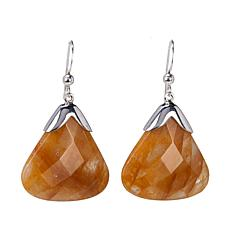 Jay King Madagascar Sunshine Quartz Drop Sterling Silver Earrings