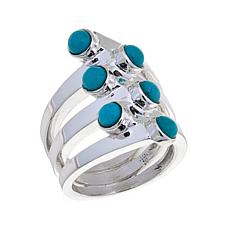 Jay King Multi-Stone Turquoise Bypass Ring