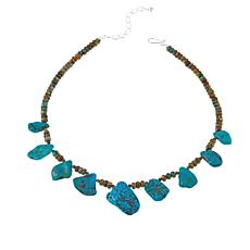 "Jay King Multi-Turquoise Sterling Silver 18"" Necklace"