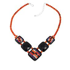 Jay King Multicolor Multigem Inlay 18 Necklace