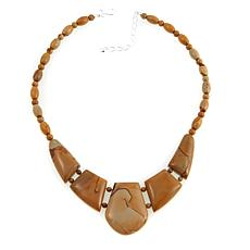 "Jay King Multicolor Picture Jasper 18-1/2"" Necklace"