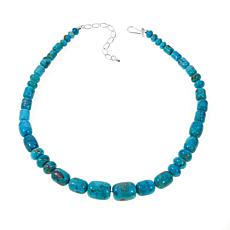 "Jay King Multicut Kingman Turquoise Bead 18"" Necklace"
