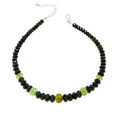 Jay King Nephrite Jade and Green Amber Bead Necklace