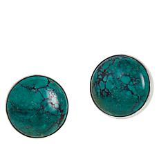 Jay King New Red Skin Turquoise Round Stud Earrings