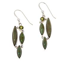 Jay King No. 7 Yellow Turquoise and Peridot Earrings