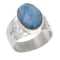 Jay King Oval Aquamarine Sterling Silver Ring