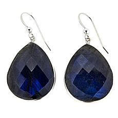 Jay King Pear-Shape Labradorite Drop Sterling Silver Earrings