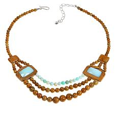 Jay King Picture Jasper-Green Opal Reversible Necklace