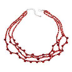 "Jay King Pink and Red Bamboo Sea Coral 20"" Necklace"