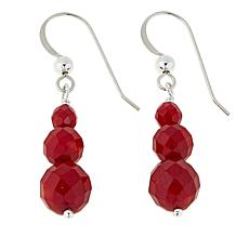 Jay King Red Sea Bamboo Coral Drop Sterling Silver Earrings