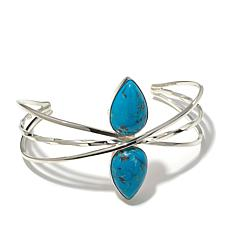 Jay King Red Skin Turquoise Cuff Bracelet