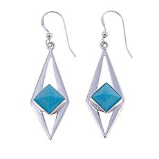 Jay King Red Skin Turquoise Drop Earrings