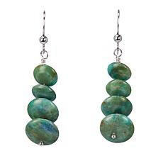 Jay King Ruby in Fuchsite Sterling Silver Drop Earrings