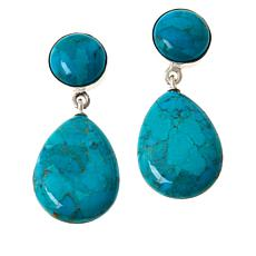 Jay King Seven Peaks Turquoise Double Drop Earrings