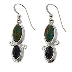 Jay King Smoky Quartz and Alicia Turquoise Drop Earrings