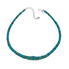 "Jay King Sonoran Blue Turquoise Bead 18"" Necklace"