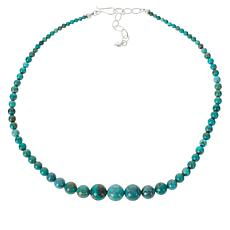 Jay King Spider Mountain Turquoise Graduated Bead Necklace