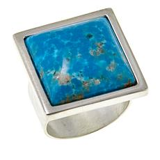 Jay King Square Sonoran Turquoise Sterling Silver Ring
