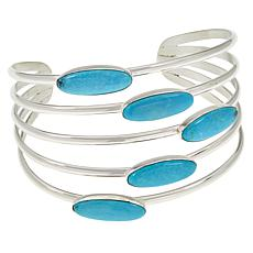 Jay King Sterling Silver 5-Gemstone Cuff Bracelet