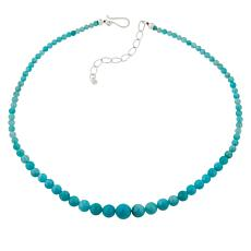 Jay King Sterling Silver Amazonite Bead Necklace