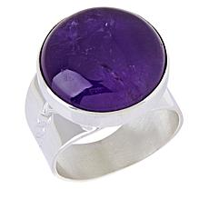 Jay King Sterling Silver Amethyst Round Ring