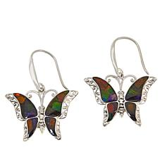 Jay King Sterling Silver Ammolite Butterfly Earrings