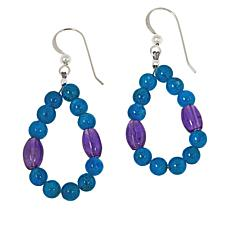 Jay King Sterling Silver Apatite and Amethyst Bead Drop Earrings