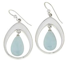 Jay King Sterling Silver Aquamarine Pear Drop Earrings