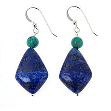 Jay King Sterling Silver Azure Peaks Turquoise and Lapis Drop Earrings