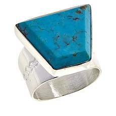 Jay King Sterling Silver Azure Peaks Turquoise Geometric Ring