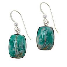 Jay King Sterling Silver Boulder Variscite Drop Earrings