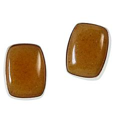 Jay King Sterling Silver Butterscotch Amber Stud Earrings