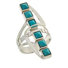 Jay King Sterling Silver Campitos Turquoise Elongated Ring