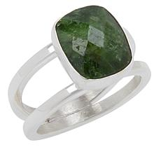 Jay King Sterling Silver Chrome Diopside Cushion-Cut Split Top Ring