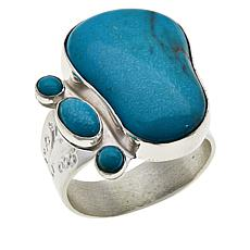 Jay King Sterling Silver Cloudy Mountain Turquoise Ring