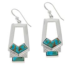 Jay King Sterling Silver Compressed Kingman Turquoise Earrings